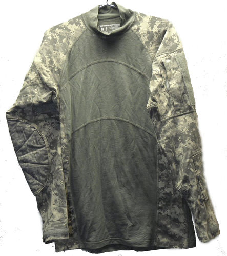 US Combat-Shirt, langarm, At-digital, flammhemmend, ungetragen, large