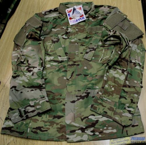 US Kampfjacke Coat Utility, ACU, multicam, 50/50 Ny/Co